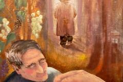 Het Emmalaantje, 2013, olieverf op doek, 50x70