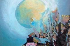 Moonflowers, 2013, olie op doek, 40x60
