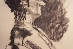 Portret, 2012, houtskool op papier